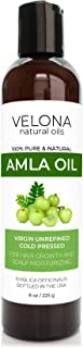 Amla Oil by Velona - 8 oz | 100% Pure and Natural Carrier Oil | Extra Virgin, Unrefined, Cold Pressed | Hair Growth, Body,...