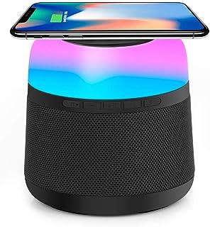 【Amazon.co.jp 限定】アボシ Bluetooth スピーカーカラーライ ブルートゥース スピーカー ワイヤレススピーカー Bluetooth4.2. ポータブルスピーカー 6時間連続再生 内蔵マイク搭載/TWS搭載 低音強化 コンパ...