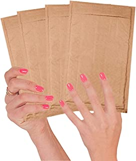 25 Pack Kraft padded envelopes 4x7. Bubble Mailers 4 x 7 Natural Kraft bubble envelopes. Peel and Seal. Brown cushion envelopes for mailing, packing and packaging. Shipping mailers in bulk, wholesale.