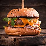 100% Grass Fed Beef Burgers - 1/2 lb Each - Package Of 2 - Delicious & Healthy Burger Patty, Protein & Omega-3 Rich Gourmet Hamburger Meat, Juicy & Ready To Cook, Classic American BBQ Choice