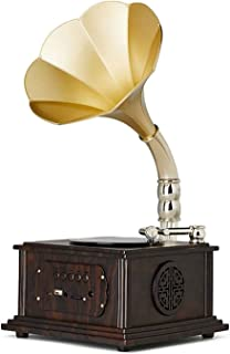 CHUXJ Mini Vintage Retro Classic Gramophone Phonograph Shape Stereo Speaker Sound System Music Box (Color : A) photo