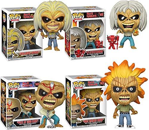 POP! Funko Rocks Iron Maiden (Skeleton Eddie) Set of 4 Iron Maiden, Killers, Number of The Beast and Piece of Mind Vinyl Figures