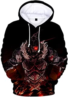 A Men Goblin Slayer 3D Printed Pullovers Casual Pouch Pocket Drawstring Hoodies