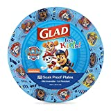 Glad for Kids Paw Patrol Paper Plates, 20 Count, 8.5 Inches | Disposable Paw Patrol Plates for Kids | Heavy Duty Disposable Soak Proof Microwavable Paper Plates for All Occasions