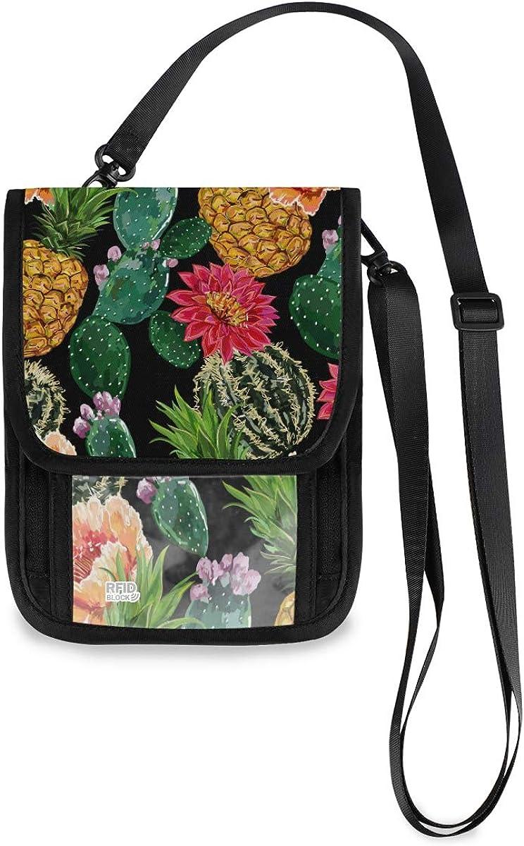 RFID Blocking Travel Ranking TOP6 Neck Wallet Tropical Bargain Summer Floral Passpo -