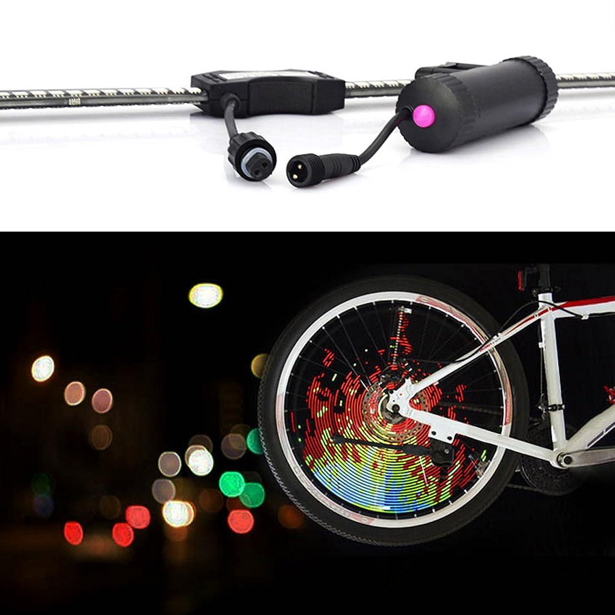 プーノ副性差別Xlp DIY LED自転車ホイールスポークライトUSB充電式自転車プログラマブル防水リムナイトライディングアクセサリー