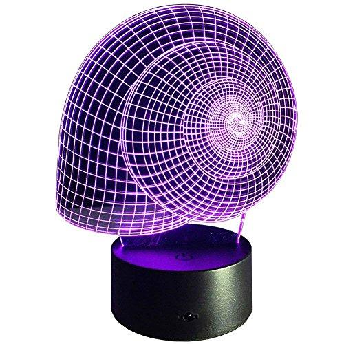 3D Schnecke Illusions LED Lampen Tolle 7 Farbwechsel Acryl berühren Tabelle Schreibtisch-Nacht licht mit USB-Kabel für Kinder Schlafzimmer Geburtstagsgeschenke Geschenk