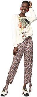 Desigual Womens Sweat_Princes Cardigan Sweater - White - EUR