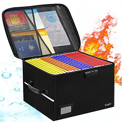 File Box, Fireproof File Box with Lock,...