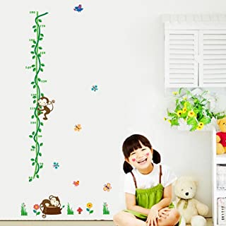 YeahiBaby Baby Growth Chart Ruler Hanging Height Measurement Kids Room Wall Decoration Mint Green