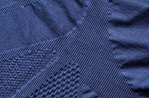 VibroShield Kompressionshose Herren | High End Compression | Funktionstight | Fitness Tight | Short Tight | Kompressionshorts | 18 Stoffstrukturen in 2-lagigem Funktionsgewebe + Kordel (blau, S) - 8