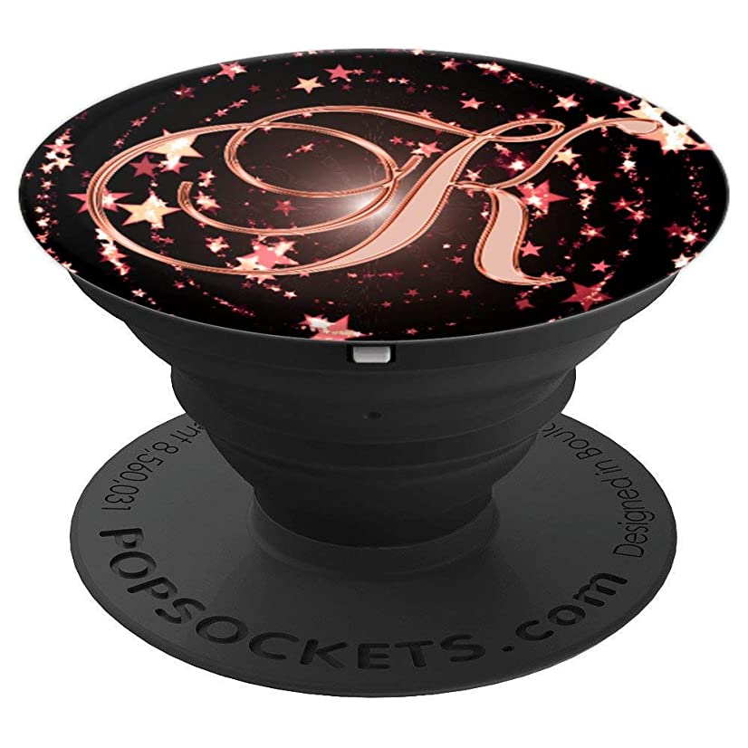 K Pink Stars Space Initial Monogram Capital Letter Name - PopSockets Grip and Stand for Phones and Tablets