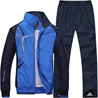Modern Fantasy Men's Athletic Striped Tracksuit Joggers Running Sports Style Sweat Suits Set