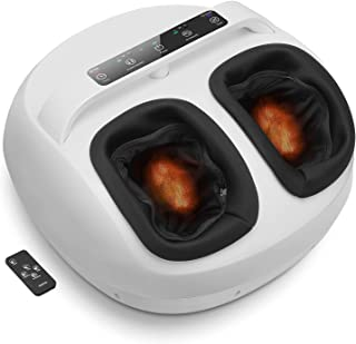RENPHO Foot Massager Machine with Heat Full Covered with Remote, Shiatsu Deep Kneading, Multi-Level Setting, Easy to Move ...