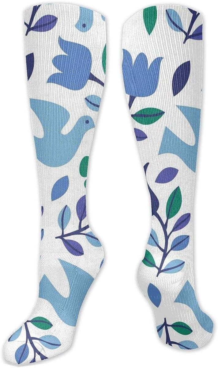 Shark Christmas Doves Knee High Socks Leg Warmer Dresses Long Boot Stockings For Womens Cosplay Daily Wear