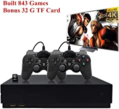 BAORUITENG Retro Game Console, Entertainment System HD Video Game Consoole 800 Classic Games 4K HDMI TV Output with 2PCS Joystick for a Great Gifi for Game Player (x-p)