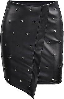 dd3d0e075 Amazon.es: faldas de cuero - Mujer: Ropa