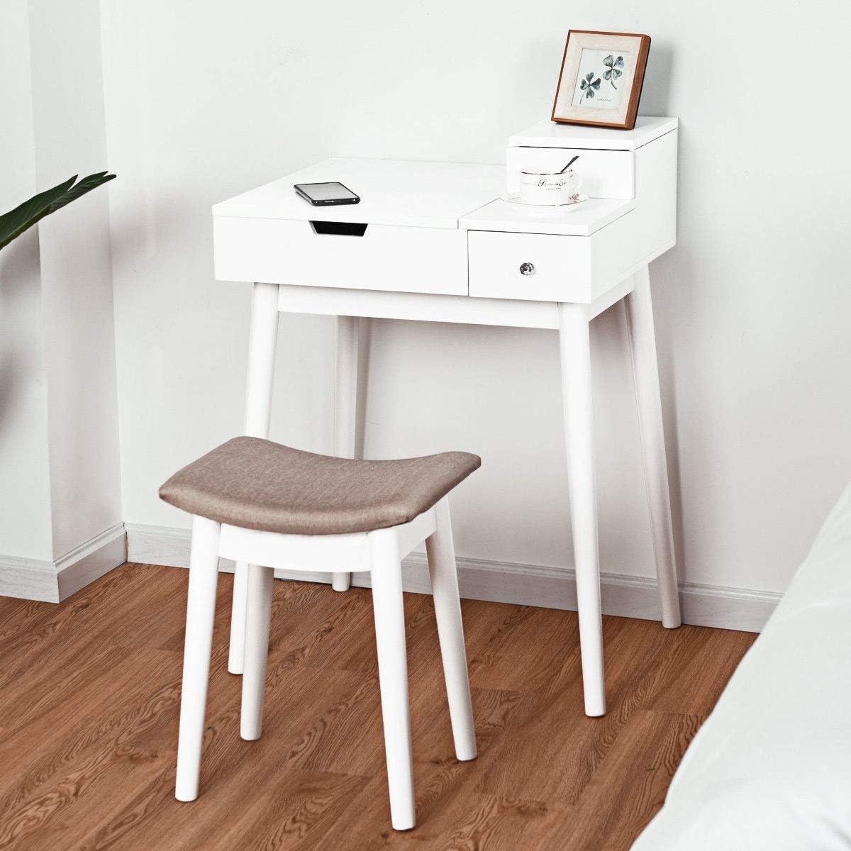 Kanizz Mirror Desk Furniture Max 62% OFF Stool Vanity Elegant Makeup Flip Ha Reservation
