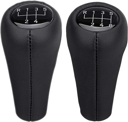 Black Viviance 5 Speed Car Gear Head Trim Cover Gear Shift Knob Cap For Renault Clio MK2