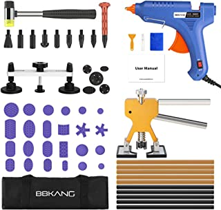 BBKANG Paintless Dent Repair Removal Remover Tools Kit- 60Pcs Car Dent Puller Kit Easy to Use for Small Dent Door Ding Hail Damage Repair