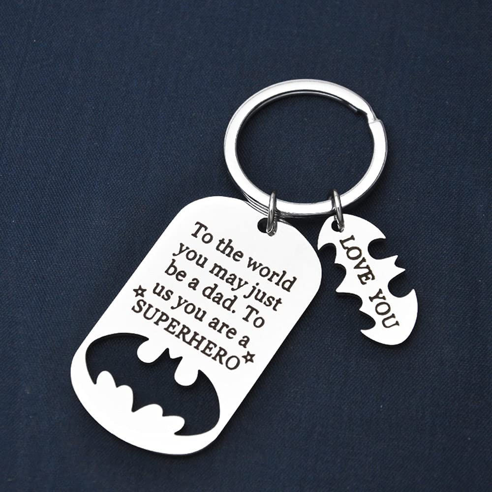 Father's Day Gift - Dad Gift from Daughter for Birthday Stainless Steel Keychain