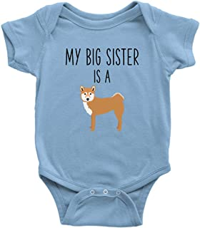 My Big Sister is A Shiba Inu Baby Bodysuit Funny Dog Lover Baby Clothes Baby Boy Baby Girl Bodysuit