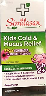 similasan cold and mucus relief ingredients