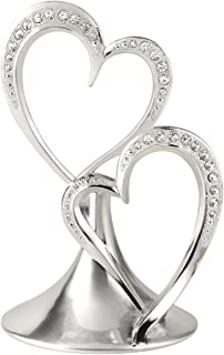 Hortense B. Hewitt 10001 Sparkling Love Double Heart Cake Top, 5.5-Inches, Silver