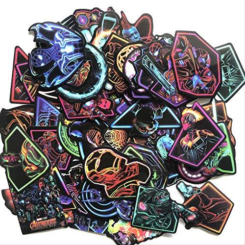 YGLANX Avengers 4 Marvel 66 Teile/Los Cartoon Alliance Bunte Universum Spielzeug Für Laptop Skateboard Gepäck Aufkleber Für Kinder