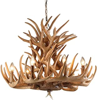 WZHZJ Modern LED Chandelier Lighting Industrial Buck Deer Horn Antler Bedroom Living Room Decoration Dining Room Kitchen F...