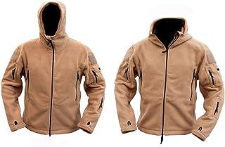 Mens Military Army Combat Recon Hoodie US British Fleece Hoodies Sweat Shirt Zip Jacket Smock New (Small = Chest 36-38 inc...