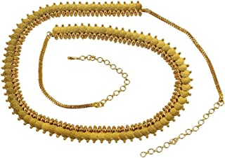 Kundan Style Design Made Adjustable Kundan Chain Belt for Womens