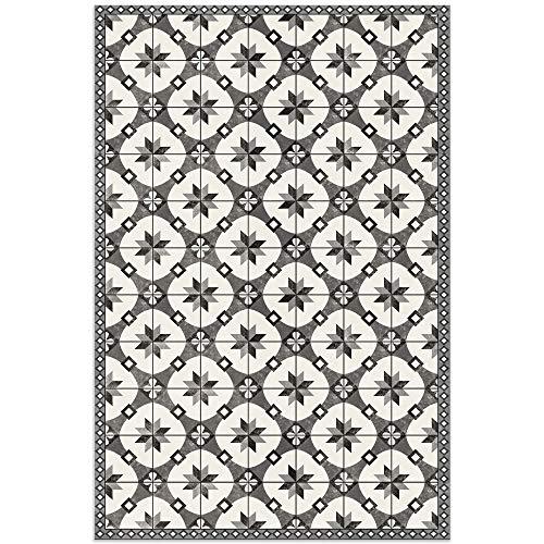 American Art Decor Mosaic Tile Pattern Indoor Ultra-Thin Non-Slip Vinyl Kitchen, Restroom, Bathroom Floor Mats, Home Decor   Durable, Easy to Clean – 2' x 3'