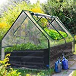 Quictent 49''x37''x36'' Extra-Thick Galvanized Steel Raised Garden Bed Planter Kit Box with Greenhouse 2 Large Zipper… 16 √【Dual Use Raised Bed】Use the raised garden bed and greenhouse together to keep plants warm and growing in winter and spring. Or move the greenhouse to keep other small plants to grow, do as your need. Give you more freedom to use these two parts. √【Extra-thick Reinforced Galvanized Steel】--- 0.5mm thickness galvanized side, 1.0mm galvanized sheet for corner, 11.8inch in height, perfect size with extra-thick steel, stable for using at least 5 years. √【Eco-friendly Galvanized Paint】--- Use eco-friendly galvanized paint, efficiently prevent rust; And with the advanced dark grey, the most popular color, give your garden more beauty. Also never worry about that pest and rain damage the wood garden bed; galvanized steel garden bed provides lasting use and no discoloration.