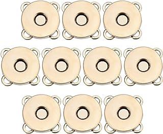 SUPVOX 10pcs Bottoni magnetici Bottoni Automatici Bottoni Fibbia in Metallo catenacci Fiore di Prugna per Borse Portamonet...