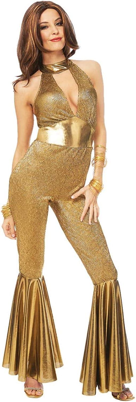 HorrorShop 70s Disco Diva Costume gold M