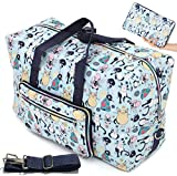 Large Foldable Travel Duffle Bag For Women Girls Cute Floral Weekender Overnight Carry On Checked Luggage Bag Hospital...