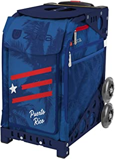 ZUCA Puerto Rico Sport Insert Bag and Navy Blue Frame with Flashing Wheels