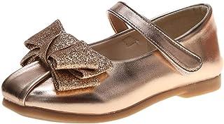 WEXCV Baby meisjes kinderen sandalen herfst effen boog anti-slip zachte prinses schoenen leuke stijlvolle elegante vrijeti...