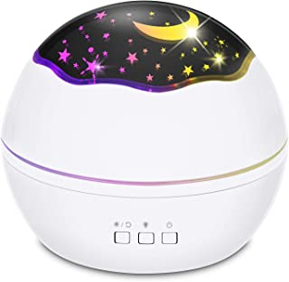 Star Night Light for Kids, Star Projector, 360 Degree Rotating LED Night Light Projection Lamp with USB Cable, Baby Night ...