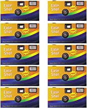 EasyShot 35mm Disposable Camera Film Flash 24 Exp Vintage Single Use One Time (10 Pack)