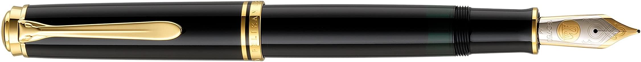 Pelikan Souverän M1000 Piston Fountain Pen Black - Nib F