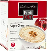 ProtiDiet High Protein Apple Cinnamon Oatmeal, 15g Protein, Low Calorie, Low Carb, Low Fat, Sugar Free, Instant Diet Oatme...