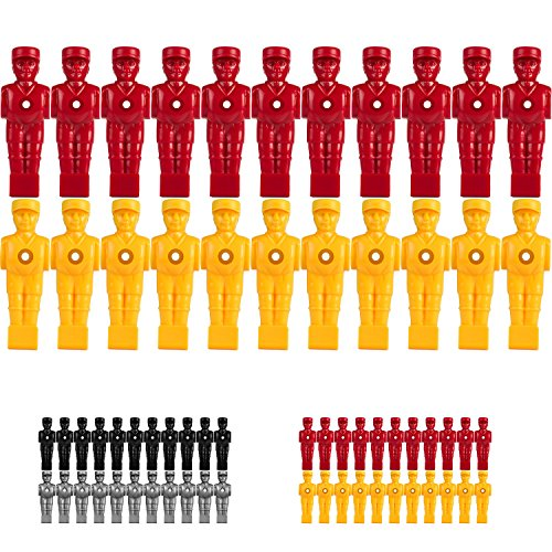 Tuniro® 22x Profi Tischfußball Figuren, AUSBALANCIERT, SOCCERFUSS, Varianten (VOLLSTANGEN BZW. HOHLSTANGEN/TELESKOPSTANGEN) für 5/8 Zoll BZW. 15,9 mm Stangen, inkl. Schraubensatz, Kicker