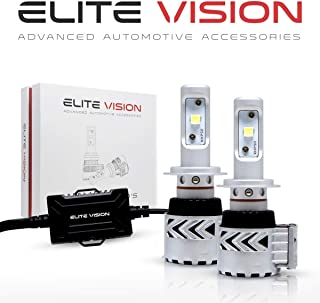 Elite Vision Advanced Automotive Accessories - Olympus LED Conversion Kit H7 for Bright White Headlights Bulbs, Low Beams, High Beams, Fog Lights