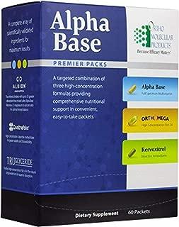 Ortho Molecular - Alpha Base Premier Packs - 60 CT