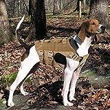 PETAC GEAR Arnés táctico para perro K9, arnés de entrenamiento militar, ajustable, servicio de policía, chaleco Molle, para perros grandes, medianos y medianos y grandes, GSD Lab (CB, L)..