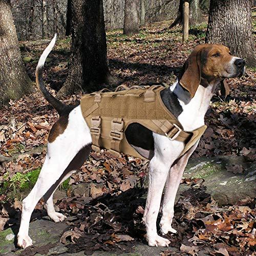 PETAC GEAR Taktisches Hundegeschirr K9 Militärisches Hunde-Trainingsgeschirr verstellbar Polizei Dienst-Hund Arbeitsweste MOLLE Weste für große mittelgroße Hunde Mals GSD Labor (CB, L)