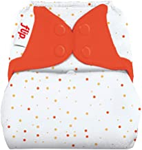 Flip Hybrid Reusable Cloth Diaper Cover with Adjustable Snaps and Stretchy Tabs - Fits Babies from 8 to 35+ Pounds (Sassy Dots)