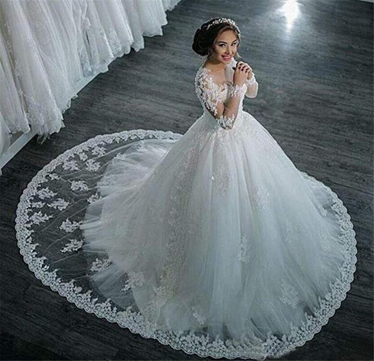 Wedding Drees Bridal Gowns Woman Floor White Elegant Party Sexy Sleeveless Lace Bride Forma